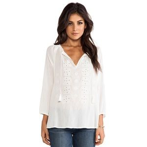 Joie Millian Embroidered Blouse S